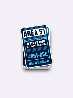 Area 51 visitor access sticker