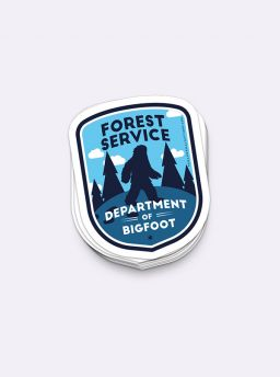 Department of bigfoot single sticker