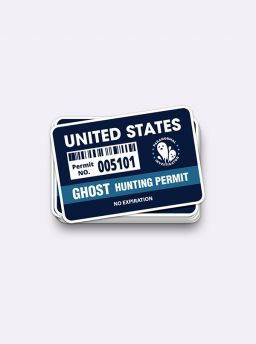 Ghost hunting permit sticker