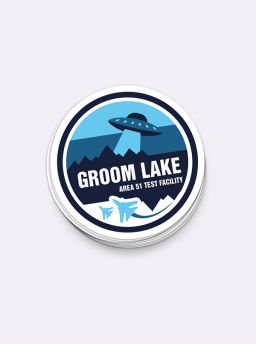 Groom lake single sticker