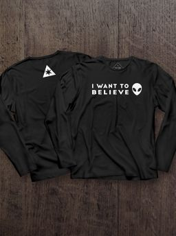 I want to believe long sleeves shirt