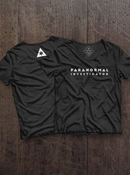 Paranormal investigator girl shirt